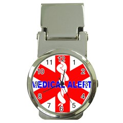 Medical Alert Health Identification Sign Money Clip With Watch