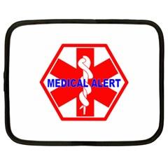 MEDICAL ALERT HEALTH IDENTIFICATION SIGN Netbook Case (Large)