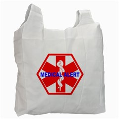 MEDICAL ALERT HEALTH IDENTIFICATION SIGN Recycle Bag (One Side)
