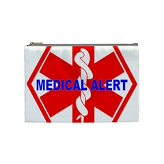 Medical Alert Health Identification Sign Cosmetic Bag (medium)