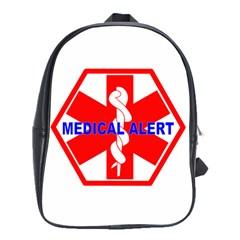 MEDICAL ALERT HEALTH IDENTIFICATION SIGN School Bag (Large)