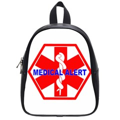 MEDICAL ALERT HEALTH IDENTIFICATION SIGN School Bag (Small)