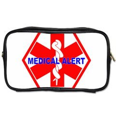 Medical Alert Health Identification Sign Travel Toiletry Bag (two Sides)