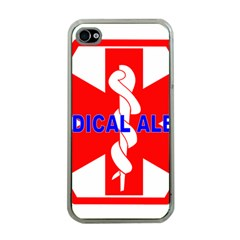 MEDICAL ALERT HEALTH IDENTIFICATION SIGN Apple iPhone 4 Case (Clear)