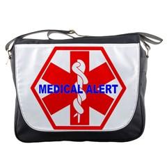 Medical Alert Health Identification Sign Messenger Bag