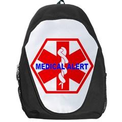 MEDICAL ALERT HEALTH IDENTIFICATION SIGN Backpack Bag