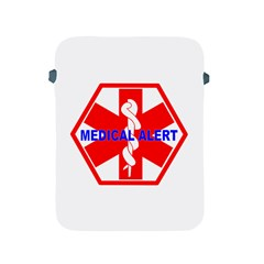 MEDICAL ALERT HEALTH IDENTIFICATION SIGN Apple iPad 2/3/4 Protective Soft Case