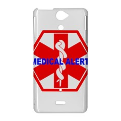 MEDICAL ALERT HEALTH IDENTIFICATION SIGN Sony Xperia V Hardshell Case