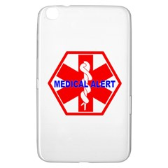 Medical Alert Health Identification Sign Samsung Galaxy Tab 3 (8 ) T3100 Hardshell Case