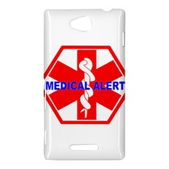 MEDICAL ALERT HEALTH IDENTIFICATION SIGN Sony Xperia C (S39h) Hardshell Case