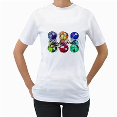 JUGGLER BEAN BALLS Womens  T-shirt (White)