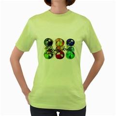 JUGGLER BEAN BALLS Womens  T-shirt (Green)