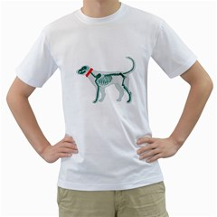 DOG ANATOMY X-RAY Mens  T-shirt (White)