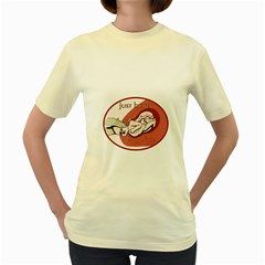 CHILDBIRHT  Womens  T-shirt (Yellow)
