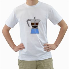 Espresso Machine Mens  T Shirt (white)