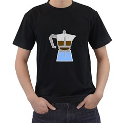 ESPRESSO MACHINE Mens' Two Sided T-shirt (Black)