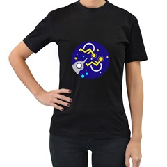 DISABLED PARAPLEGIA ROCKET IN  SPACE Womens' T-shirt (Black)