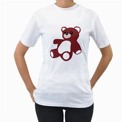 TEDDY BEAR TOY  Womens  T-shirt (White)