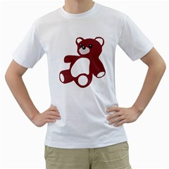 TEDDY BEAR TOY  Mens  T-shirt (White)