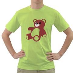 Teddy Bear Toy  Mens  T Shirt (green)