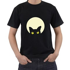CAT FELINE HEAD Mens' T-shirt (Black)