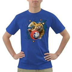 Kitty s got the world in her paws Mens' T-shirt (Colored)
