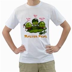 Master Peas Mens  T Shirt (white)