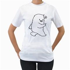 Monster Womens  T-shirt (White)