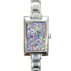 Ying Yang Rectangular Italian Charm Watch
