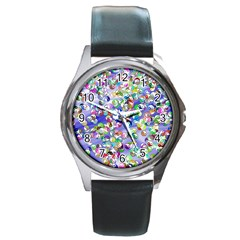 Ying Yang Round Metal Watch (Silver Rim)