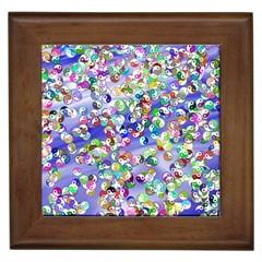 Ying Yang Framed Ceramic Tile