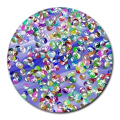 Ying Yang 8  Mouse Pad (Round)