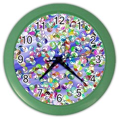 Ying Yang Wall Clock (color)