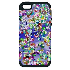 Ying Yang Apple iPhone 5 Hardshell Case (PC+Silicone)