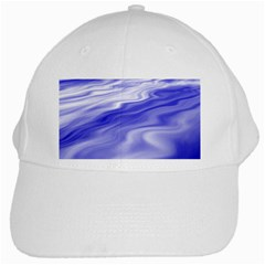 Wave White Baseball Cap
