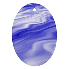 Wave Oval Ornament