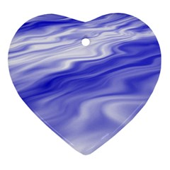 Wave Heart Ornament