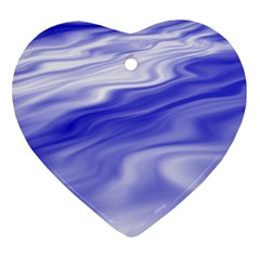 Wave Heart Ornament (Two Sides)