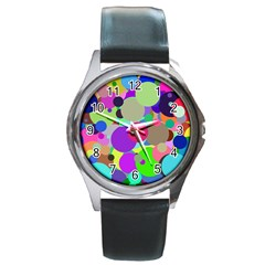 Balls Round Metal Watch (Silver Rim)