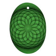 Design Oval Ornament (Two Sides)