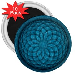 Spirograph 3  Button Magnet (10 pack)