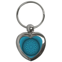 Spirograph Key Chain (Heart)