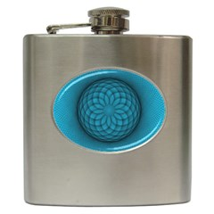 Spirograph Hip Flask