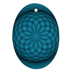 Spirograph Oval Ornament (Two Sides)