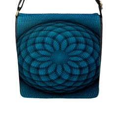 Spirograph Flap Closure Messenger Bag (Large)