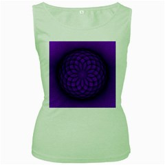Spirograph Womens  Tank Top (Green)