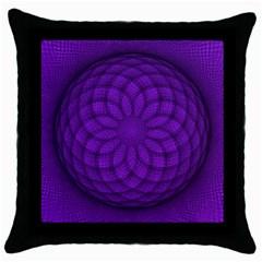 Spirograph Black Throw Pillow Case