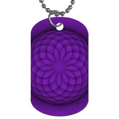 Spirograph Dog Tag (One Sided)