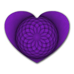 Spirograph Mouse Pad (Heart)