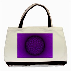 Spirograph Twin-sided Black Tote Bag